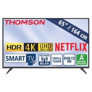 "65""-Ultra-HD-LED-TV 65UD6306 • HbbTV, H.265, HDR, Dual-Core • 3 HDMI-/2 USB-Anschlüsse, CI+ • Stand-by: 0,24 Watt, Betrieb: 118 Watt • Maße: H 85,0 x B 146,5 x T 7,8 cm • Energie-Effizi"
