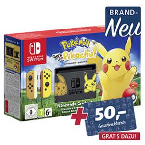 Nintendo Switch  inkl. Pokemon Let's Go Pikachu