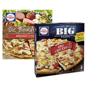 Wagner Die Backfrische oder Big Pizza gefroren, jede 360-g-Packung und weitere Sorten