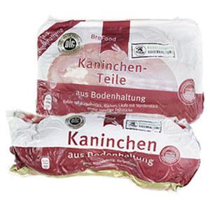 Brefood Ganzes Kaninchen oder Kaninchen-Teile aus Bodenhaltung, küchenfertig, gefroren, je 1 kg