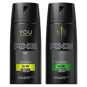 Axe Bodyspray versch. Sorten, jede 150-ml-Dose