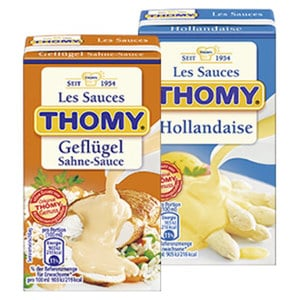 Thomy Les Sauces versch. Sorten,  jede 250-ml-Packung
