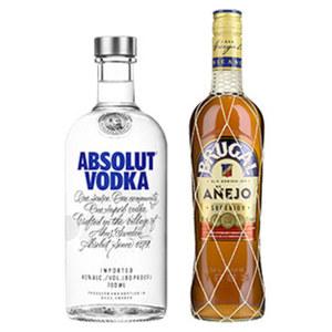Absolut Vodka 40 % Vol., und weitere Sorten,  jede 0,7-l-Flasche