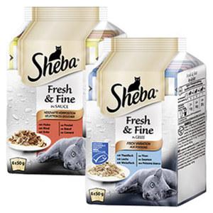 Sheba Fresh&Fine 6 x 50 g Katzen-Nassnahrung versch. Sorten, jede Packung