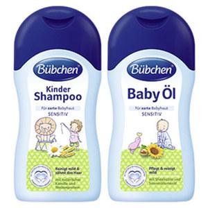 Bübchen Kinder Shampoo, Baby Öl oder Pflegebad jede 400-ml-Flasche