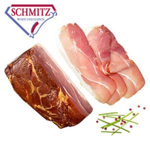GS Schmitz Schinkenspeck mild gesalzen, über Buchenholz geräuchert, je 100 g
