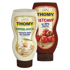 Thomy Ketchup oder -Grillsaucen versch. Sorten, jede 225/230-ml-Flasche