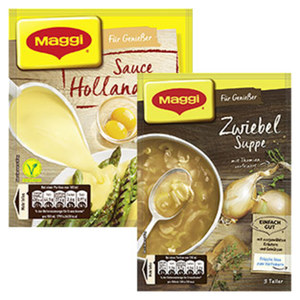 Maggi Für Genießer Suppen oder Saucen versch. Sorten, jeder Beutel