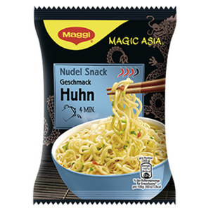 Maggi Magic Asia Instant Snacks versch. Sorten, jede 65-g-Packung