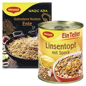 Maggi Magic Asia Gebratene Nudeln 119 g oder (Ein Teller) und weitere Sorten, jeder Beutel/jede 325/330/340-g-Dose