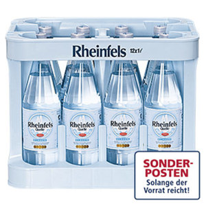 Rheinfels Quelle Klassik oder Medium 12 x 1 Liter