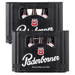 Paderborner Pilsener und weitere Sorten, 20 x 0,5 Liter, ab 2 Kästen je