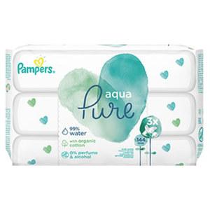 Pampers Aqua Pure Feuchttücher jede 3er-Packung