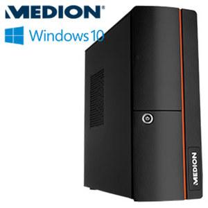 Slimline-PC Akoya E20006 • Intel® Celeron® J3060 (bis zu 2,48 GHz) • Intel® HD Graphics 400 • USB 2.0, USB 3.0 • DVD-Brenner, Cardreader • inkl. Tastatur und Maus