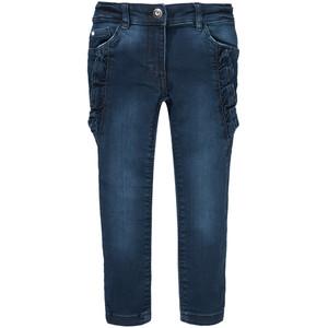 Mädchen Skinny Jeans mit Rüschen