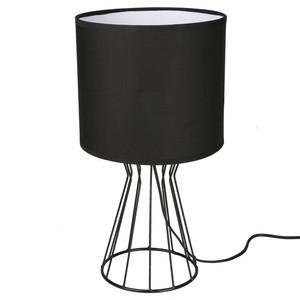Tischlampe, Draht-Optik, Standfuß Kegel, 23 x 42,5 x 23 cm, schwarz
