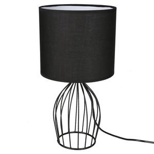 Tischlampe, Draht-Optik, Standfuß Ellipse, 23 x 43 x 23 cm, schwarz