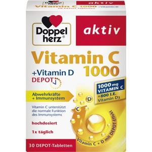 Doppelherz Vitamin C 1000 + Vitamin D Depot