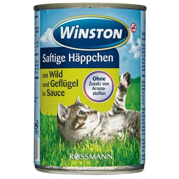 Winston saftige Häppchen mit Wild & Geflügel in Sauce 0.88 EUR/1 kg