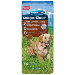 Winston Knusper-Dinner mit Rind, Gemüse & Reis 0.93 EUR/1 kg