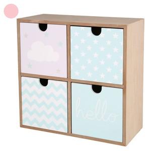 Schreibtisch-Kommode, Schubladenschrank, für Kinder, 22 x 22 x 10 cm, blau