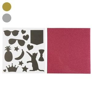 Bügelfolie, Glitzer, 14 Vorlagen, 20 x 21 cm, silber