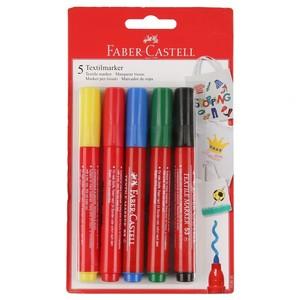 Faber Castell Textilmarker, 5er-Set