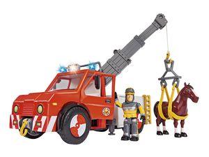 Simba Feuerwehrmann Sam Fahrzeug Phoenix mit Figur und Pferd