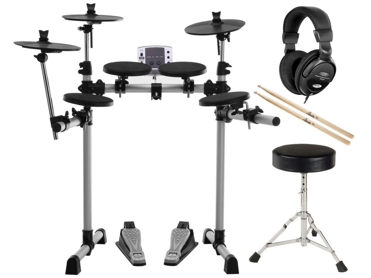 Bild 1 von XDrum DD-400 E-Drum Kit SET mit Kopfhörer, Hocker und Sticks