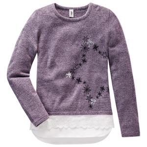 Mädchen Pullover im Layer-Look mit Pailletten