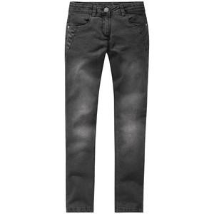 Mädchen Skinny-Jeans mit Lederimitatdetails