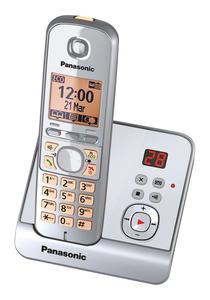 Panasonic schnurloses Dect-Telefon KX-TG 6721 GS silber