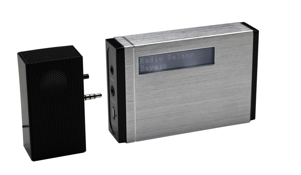 Bild 1 von Soundmaster Tragbarer DAB+/UKW PLL-Radio mit eingebautem Akku in hochwertiger Aluminiumoptik