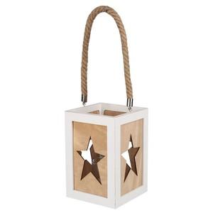 Holzlaterne, Sterne, 20 cm