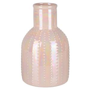 Deko-Vase bauchig, Noppenoptik, rosa, klein