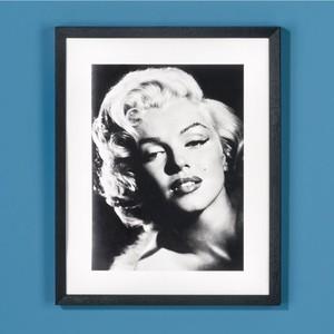 Wandbild, Marilyn Monroe, Porträt, Holzrahmen, 40,5 x 50,5 cm