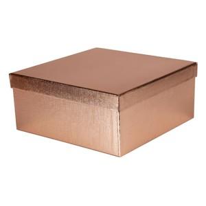 Geschenkbox, Stülpdeckel, metallic, rosègold, klein