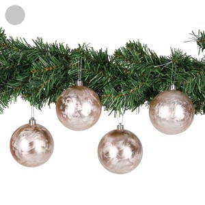 Weihnachtskugeln, glänzend, 4 Stück, verschiedene Farben