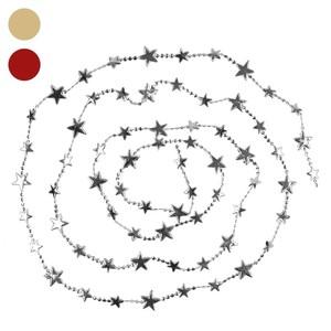 Weihnachtsgirlande mit Sternen, verschiedene Farben