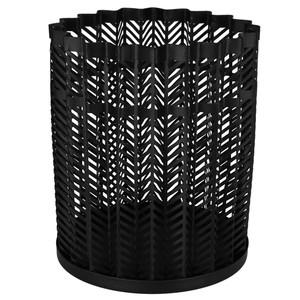 Windlicht, Metall, 15,5 x 18 x 15,5 cm, schwarz