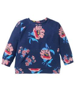 Sweatshirt - geblümt, Kängurutasche
