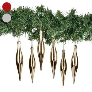 Baumhänger, gold, 6 Stück