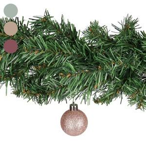 Weihnachtskugeln, Röhre, 9 Stück, verschiedene Farben