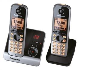 Panasonic schnurloses Dect-Telefon mit Zusatzset KX-TG 6722 GB schwarz