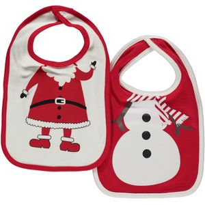 Baby Lätzchen im 2er Pack mit Weihnachtsmotiv