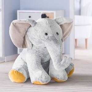 Elefant Stofftier sitzend 60 cm
