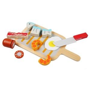Kinderküchenzubehör, Barbecue-Set, Holz, 9-teilig