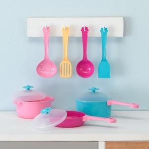 Topf- und Pfannen-Set, Spielküchenzubehör, 10-teilig