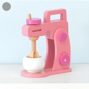 Spielzeug-Küchenmaschine, Holz, 9 x 23 x 10 cm, rosa