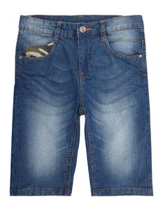Jungen Stone Washed 5-Pocket-Jeansshorts